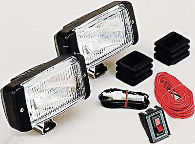 Docking Light Kit With Brackets/Boots/Switch/Harness Black Optronics DL16CC