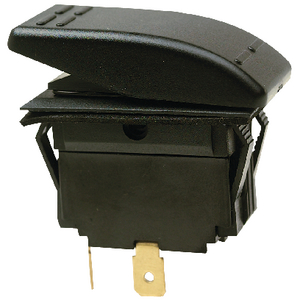 Rocker Switch On Off SPST Black 2 Terminal Seachoice 10801
