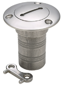 """Diesel Fill With Cap And Safety Chain Stainless 1 1/2"""" Hose Seachoice 32261"""