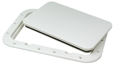 """Pry-Up Hatch 8 1/4"""" X 12 3/8"""" Cut Out 7x11 Id White Seachoice 39121"""