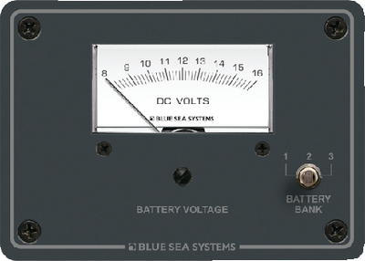 Analog Voltmeter Panel 8-16 Volt DC Blue Sea Systems 8015