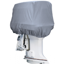 Outboard Motor Cover Gray Cotton Canvas 21 x 14 x 16 0.5-25 HP Attwood 10540