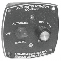 """Automatic Aerator Control 3"""" Round 2 1/2"""" Square Cutout T-H Marine AAC1DP"""
