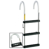 Telescoping Gunwale Hook Ladder Eez-In 4 Step 250# Collapsible Garelick 06141