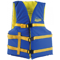 "Life Vest XL Adult 40""-60"" Chest Type III USCG Foam Blue/Yellow Seachoice 86240"
