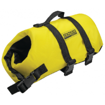 Dog Life Vest Jacket Yellow / Black XXS Toy Up To 6 Lbs Seachoice 86300
